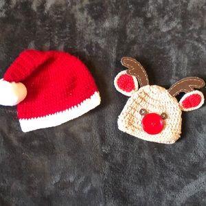Christmas newborn hats
